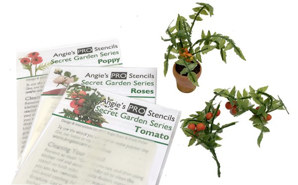 New PRO stencils range including NEW Tomato Plant